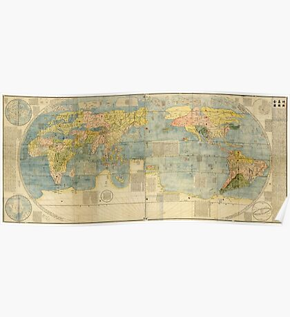 Chinese World Map 1602 Poster