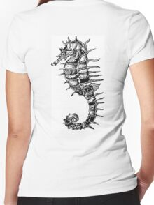 Sea Horse Women's Fitted V-Neck T-Shirt