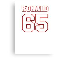NFL Player Ronald Leary sixtyfive 65 Canvas Print