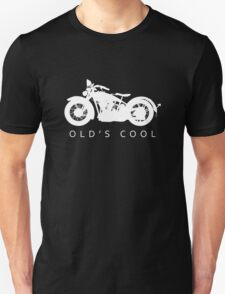 Old's Cool - Vintage Motorcycle Silhouette (White) Unisex T-Shirt