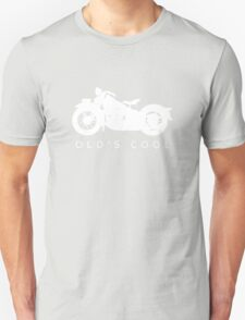Old's Cool - Vintage Motorcycle Silhouette (White) T-Shirt