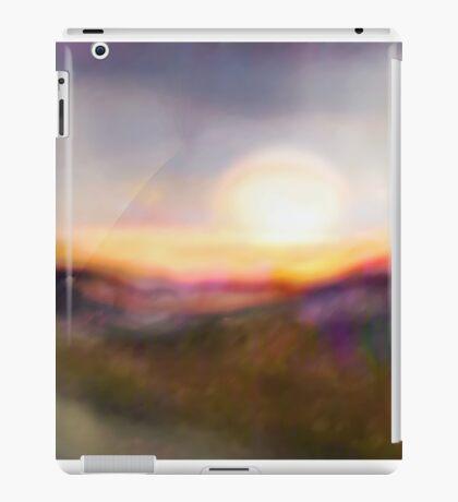 Sunset Swirl Landscape Abstract iPad Case/Skin