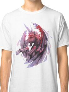 Watercolor crystallizing demonic horse Classic T-Shirt