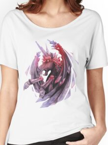 Watercolor crystallizing demonic horse Women's Relaxed Fit T-Shirt