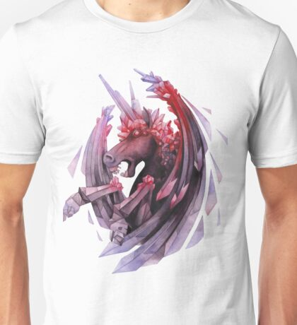 Watercolor crystallizing demonic horse Unisex T-Shirt