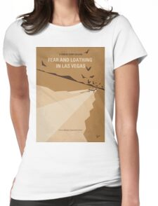 No293 My Fear and loathing Las vegas minimal movie poster Womens Fitted T-Shirt