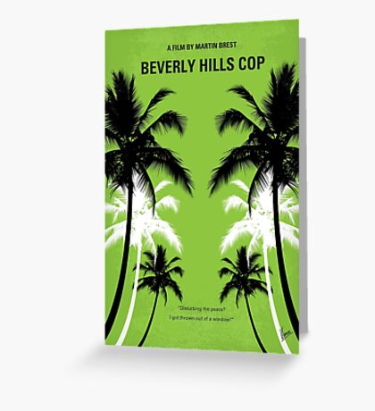 No294 My Beverly Hills cop minimal movie poster Greeting Card