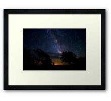 Under The Stars at the Grand Canyon  Framed Print