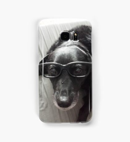 Our Dog Wears Glasses  Samsung Galaxy Case/Skin