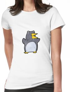 funny cartoon penguin Womens Fitted T-Shirt