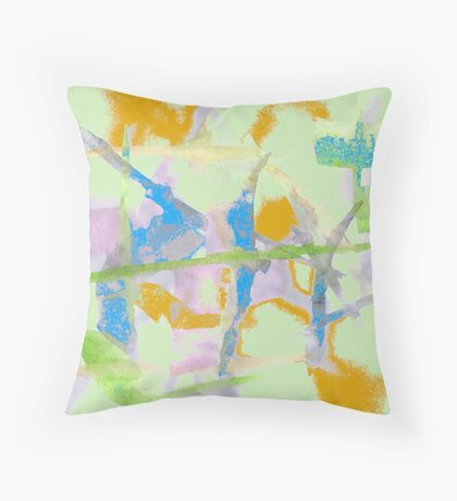Watercolor Abstraction Throw Pillow