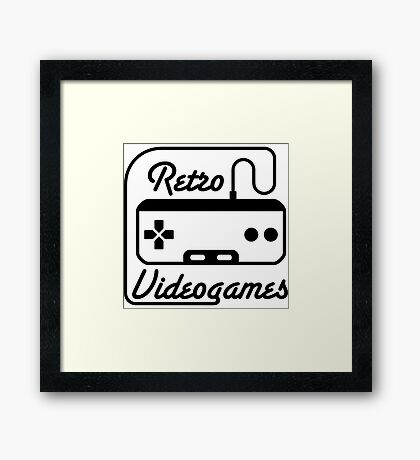 Retro Videogames Funny Video Game Shirts Framed Print