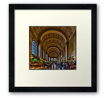 Boston Public Library Framed Print