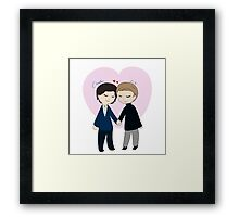 Chibi Charles And Erik Framed Print