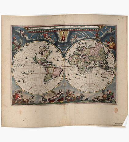 World Map 1664 Poster