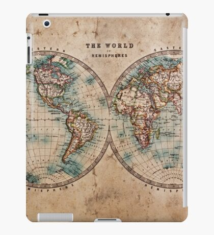 World Map Mid 1800s iPad Case/Skin