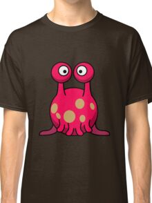 Strange funny pink monster with tentacles cartoon Classic T-Shirt