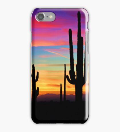 A Southwest Saguaro Sunset  iPhone Case/Skin