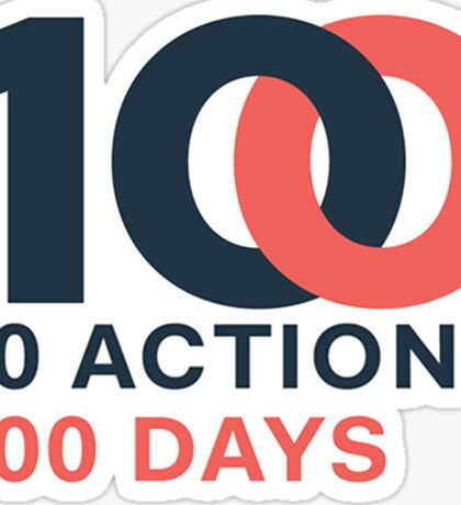 Women's March - 10 Actions 100 Days Sticker