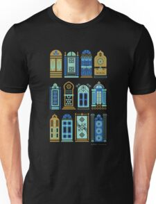 Moroccan Doors – Navy Palette Unisex T-Shirt
