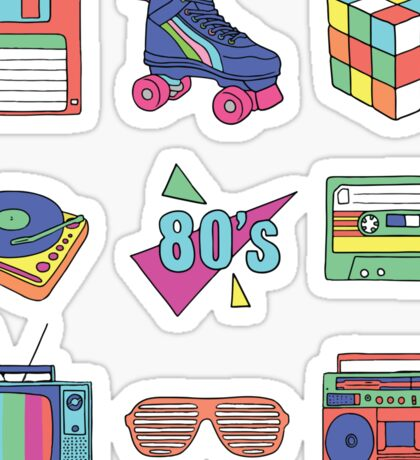 Born in 80's Sticker