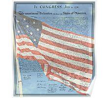 Declaration of Independence & Star-Spangled Banner Poster