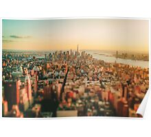 New York City - Skyline at Sunset Poster