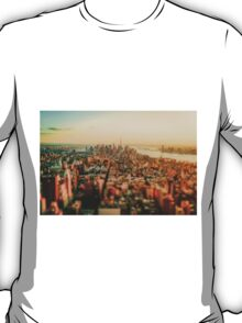 New York City - Skyline at Sunset T-Shirt