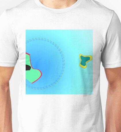 flying thru blue Unisex T-Shirt