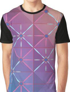 Pink Lattice Graphic T-Shirt