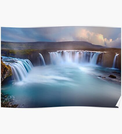 Long Exposure Waterfall Art Prints and Posters Poster