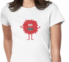 Funny Cute Monster Womens Fitted T-Shirt