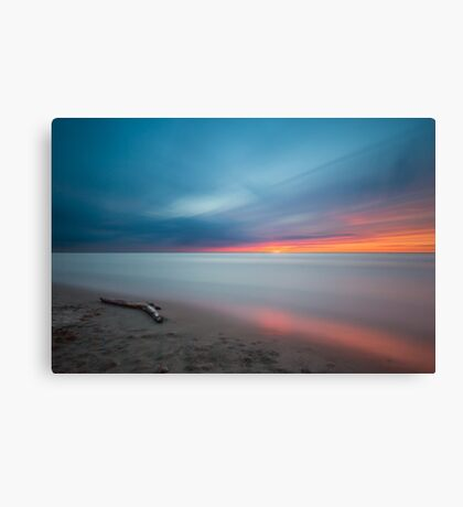 Long Exposure Shore Sunset Art Prints and Posters Canvas Print