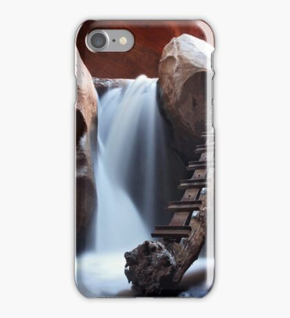 Long Exposure Waterfall Cavern Art Prints and Posters iPhone Case/Skin