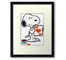 Snoopy Valentine Framed Print