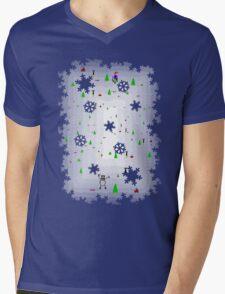 Ski Free Tribute Mens V-Neck T-Shirt