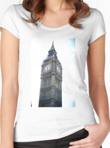 Unique London Vintage Film  Women's Fitted Scoop T-Shirt