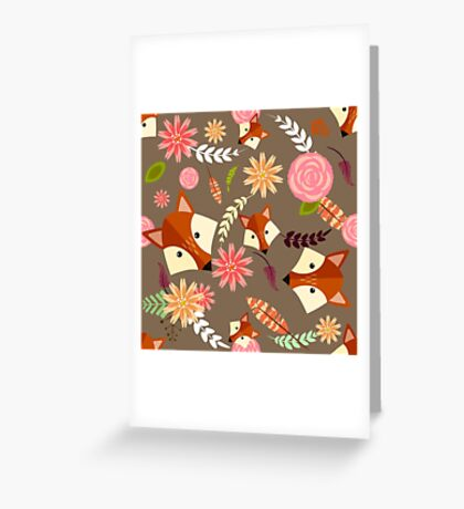 Fox Pattern II Greeting Card
