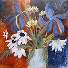 Still life with Blue Iris by bevmorgan