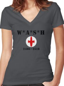 W*A*S*H 2486 - 2518 - Clean look Women's Fitted V-Neck T-Shirt