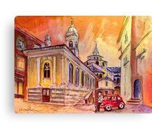 Evening Date In Bergamo Canvas Print