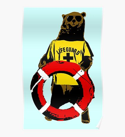 Grizzly lifeguard Poster
