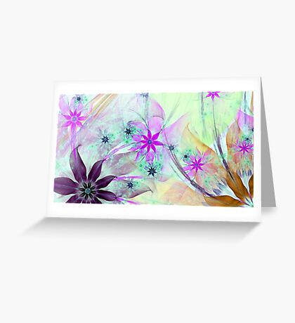 Gorgeous floral scenery Greeting Card