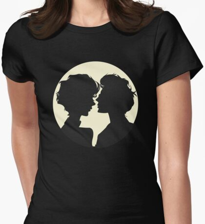 Lovers Shadow Womens Fitted T-Shirt