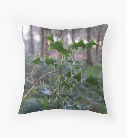 Holly Sapling Throw Pillow