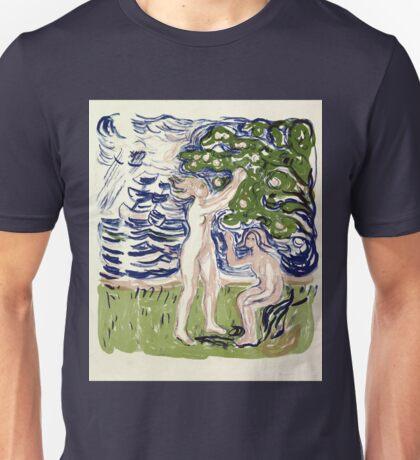 Edvard Munch Girls Picking Apples Unisex T-Shirt