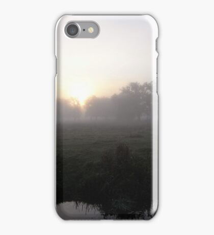 Morning mist on the blessed river iPhone Case/Skin