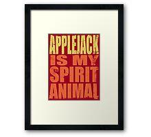 AppleJack is my Spirit Animal Framed Print