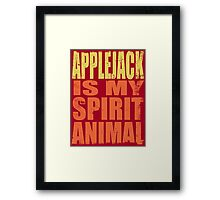 AppleJack is my Spirit Animal Framed Print