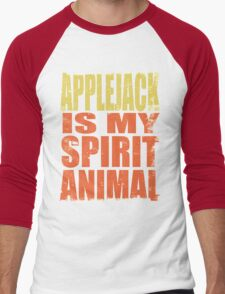 AppleJack is my Spirit Animal Men's Baseball ¾ T-Shirt